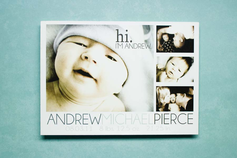 Birth Announncement for Andrew