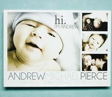 Andrew's Birth Annoucement