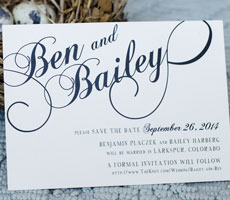 Ben and Bailey Save the Date Set