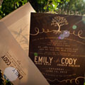 Classic Wedding Invitations for Emily and Cody