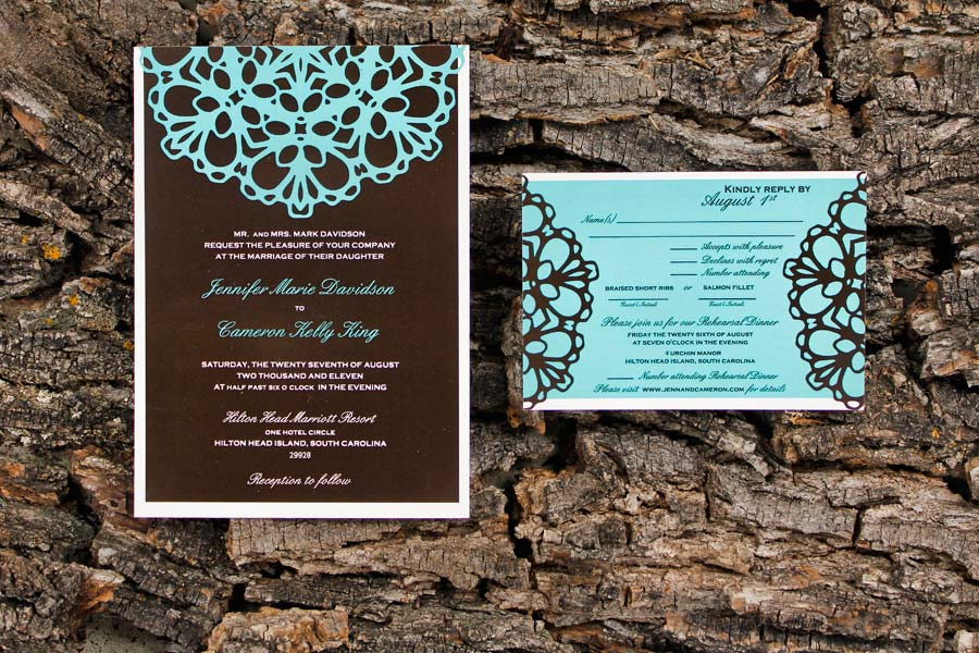 Classic Wedding Invitations for Jennifier and Cameron
