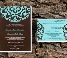 Jennifer and Cameron Wedding Invitation Set