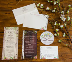 Kate and Joey Wedding Invitation Set
