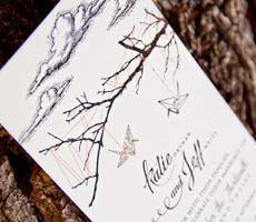 Katie and Jeff Wedding Invitation Set