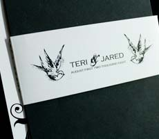 Teri and Jared Wedding Invitation Set