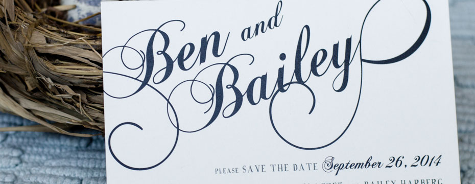 Save the Date for Ben and Bailey